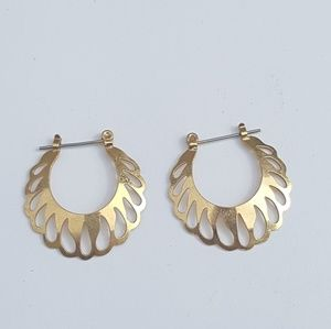 Gorgeous Vintage Hoops w Drops Cut Out Earrings